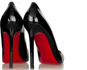 baskets louboutin rouge